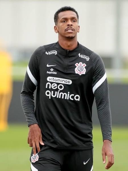 Atacante Jô participa de treino do Corinthians no CT Joaquim Grava - Rodrigo Coca/Agência Corinthians
