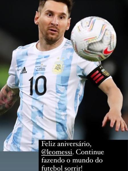 Pelé parabenizou Messi em suas redes sociais - Reprodução/Instagram