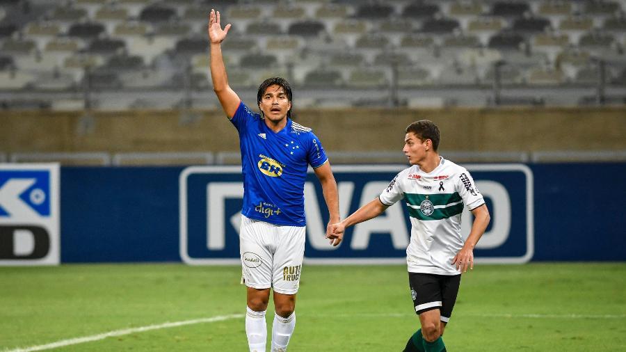 Marcelo Moreno retornou após partidas pela seleção boliviana, mas segue em seca de gols pelo Cruzeiro - Divulgação/Mineirão