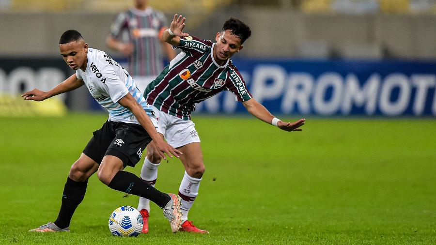 Vanderson, do Grêmio, deixou a partida de ontem chateado  - Thiago Ribeiro/AGIF