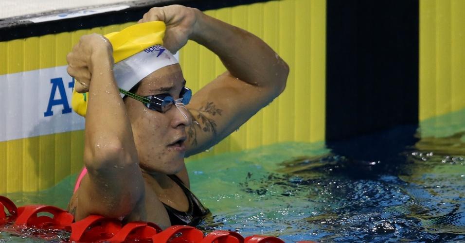 Joanna Maranhao na água durante a bateria eliminatória dos 200m medley