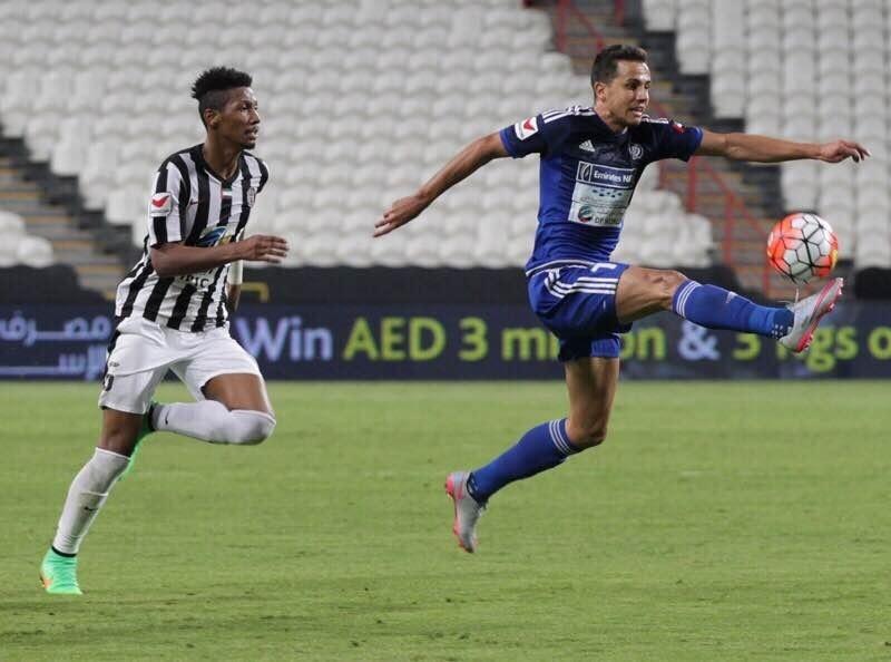 Nilmar durante jogo pelo Al-Nasr, clube de Dubai