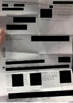 Folha de pagamento de Benatia passou a circular nas redes sociais - Reprodução