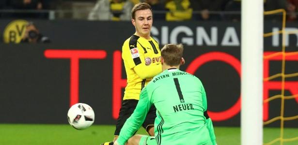 Götze no duelo contra Neuer, seu ex-companheiro no Bayern