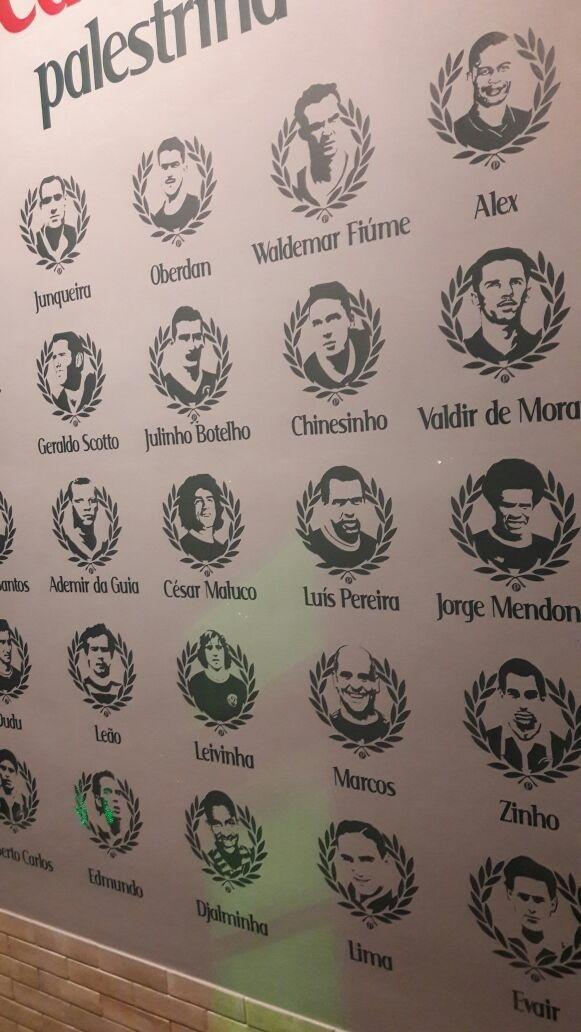 Palmeiras cantina jogadores mural