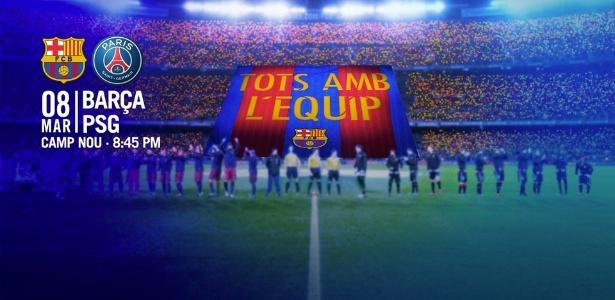 Barcelona apreentará bandeirão antes da partida decisiva contra o PSG