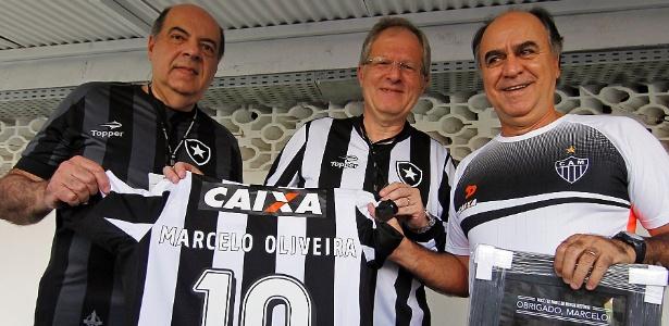 Um dos nomes cotados, Marcelo Oliveira foi homenageado pelo Botafogo em 2016