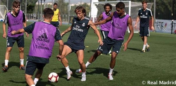 Luka Modric em treinamento com o Real Madrid - Divulgação/Real Madrid