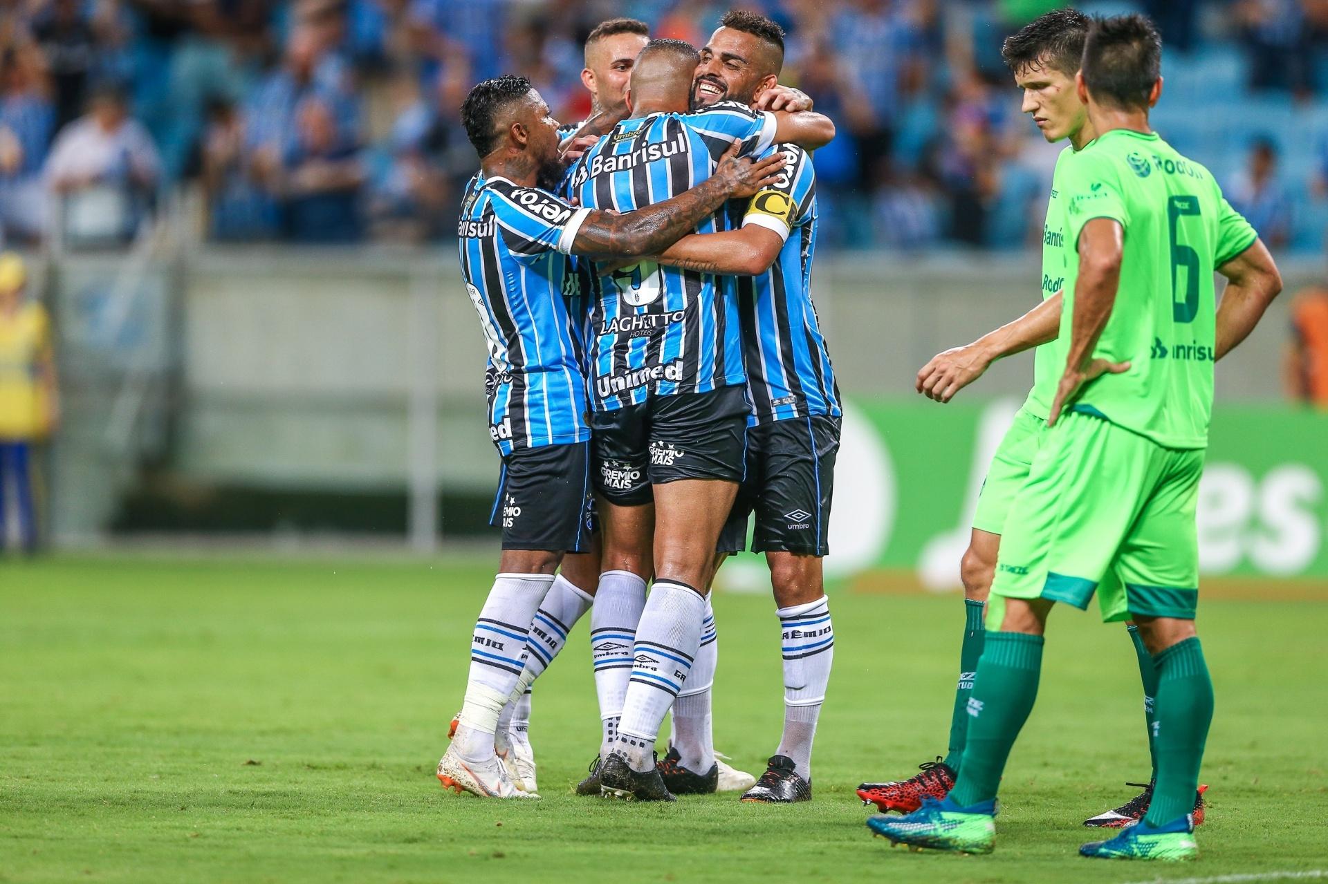 55359fcc0409a Jael faz dois e Grêmio vence Juventude na estreia do time titular -  28 01 2019 - UOL Esporte