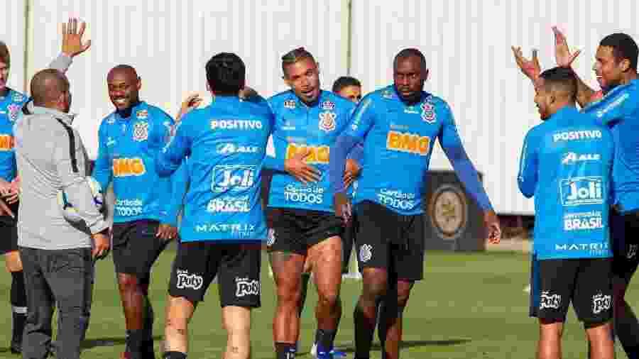 Treino do Corinthians nesta tarde teve trabalhos técnicos e táticos no CT Joaquim Grava - Daniel Augusto Jr/Ag. Corinthians