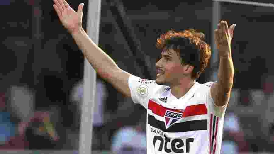 Igor Gomes, meia do São Paulo, fez gol e deu assistência na vitória sobre o Atlético-MG no Morumbi - Rubens Chiri/saopaulofc.net