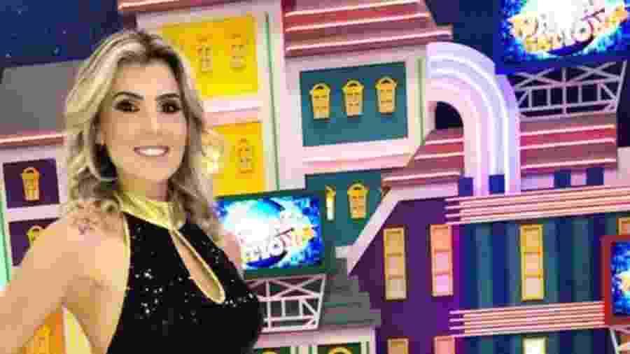 Paula Donati, bailarina do Programa do Ratinho há seis anos, foi patinadora profissional e hoje dá aulas - Reprodução/Instagram