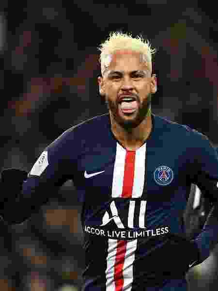 Neymar comemora gol do PSG contra o Monaco - Anne-Christine POUJOULAT / AFP