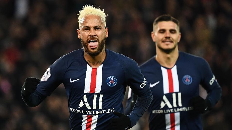 Neymar é campeão francês com o PSG após encerramento prematuro do campeonato - Anne-Christine POUJOULAT / AFP