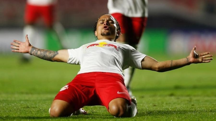 Artur, do Red Bull Bragantino, comemora gol contra o São Paulo - Ari Ferreira