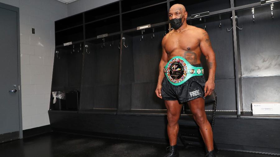 Mike Tyson após luta contra Roy Jones Jr em Los Angeles - Joe Scarnici/Getty Images for Triller