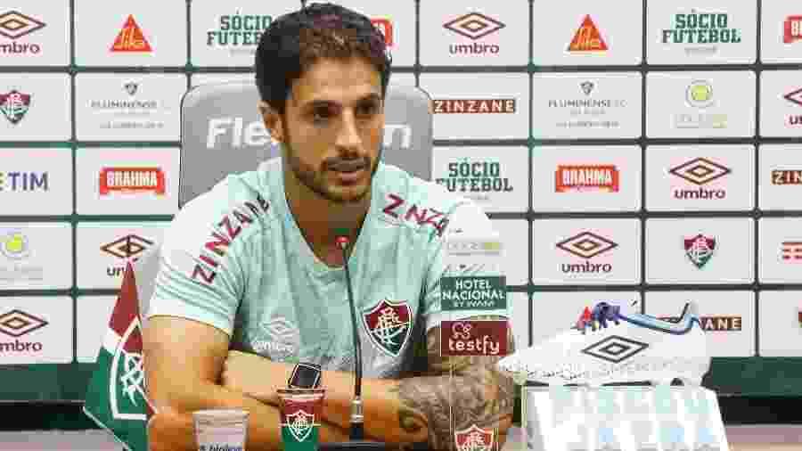 Com contrato perto do fim, Hudson admitiu vontade de ficar no Fluminense em 2021 - DANIEL PERPETUO / FLUMINENSE F.C