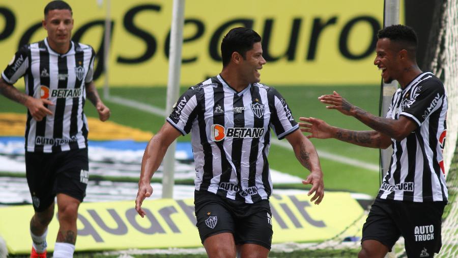 Hulk comemora gol do Atlético-MG sobre o Fortaleza na estreia no Brasileirão 2021 - Fernando Moreno/AGIF