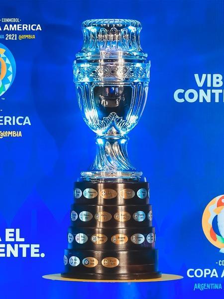 Troféu da Copa América 2021; competição foi transferida para o Brasil - Divulgação/Conmebol