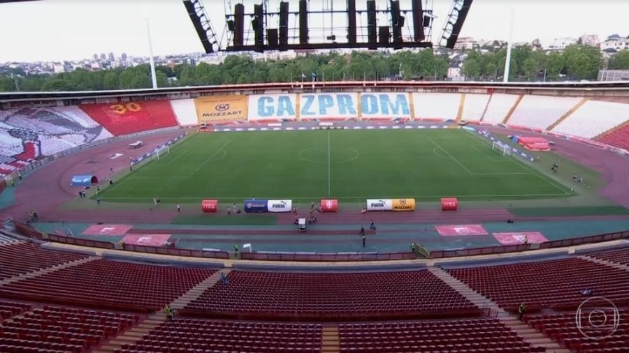 Emissora ficou sem transmitir parte da partida entre Brasil e Sérvia por conta de problemas no sinal - Reprodução/TV Globo
