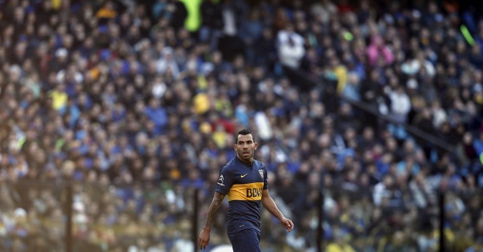 Torcedor do Boca compareceu em peso à Bombonera para acompanhar a partida do retorno de Tevez