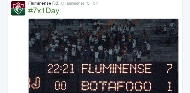 Fluminense lembrou goleada de 94 e provou o Botafogo no #7a1Day