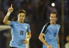 Com Suárez discreto, Uruguai bate Equador e segue em alta nas Eliminatórias - MIGUEL ROJO/AFP
