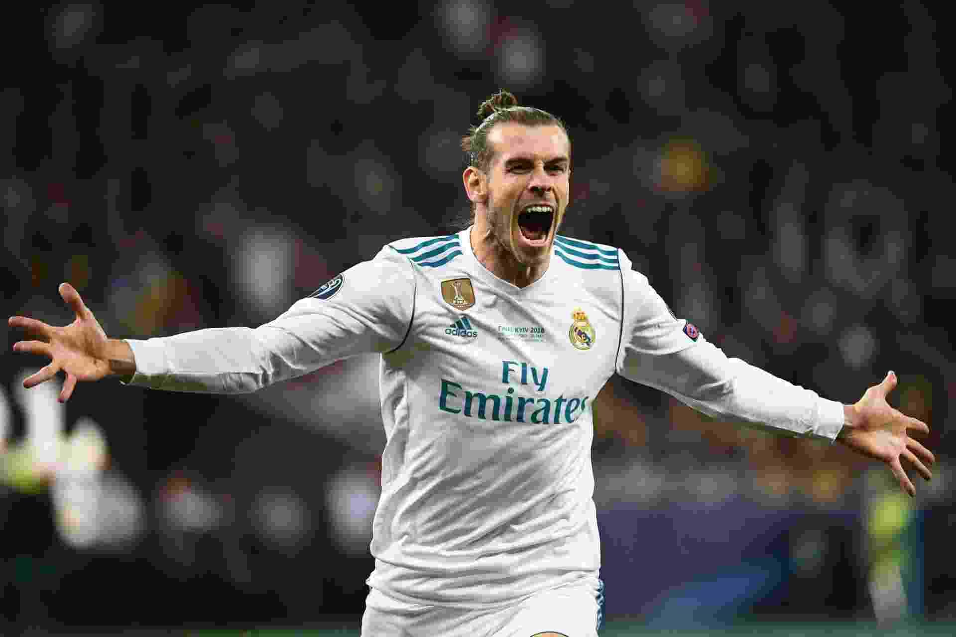 Bale comemora gol contra o Liverpool na Liga dos Campeões - AFP PHOTO / FRANCK FIFE