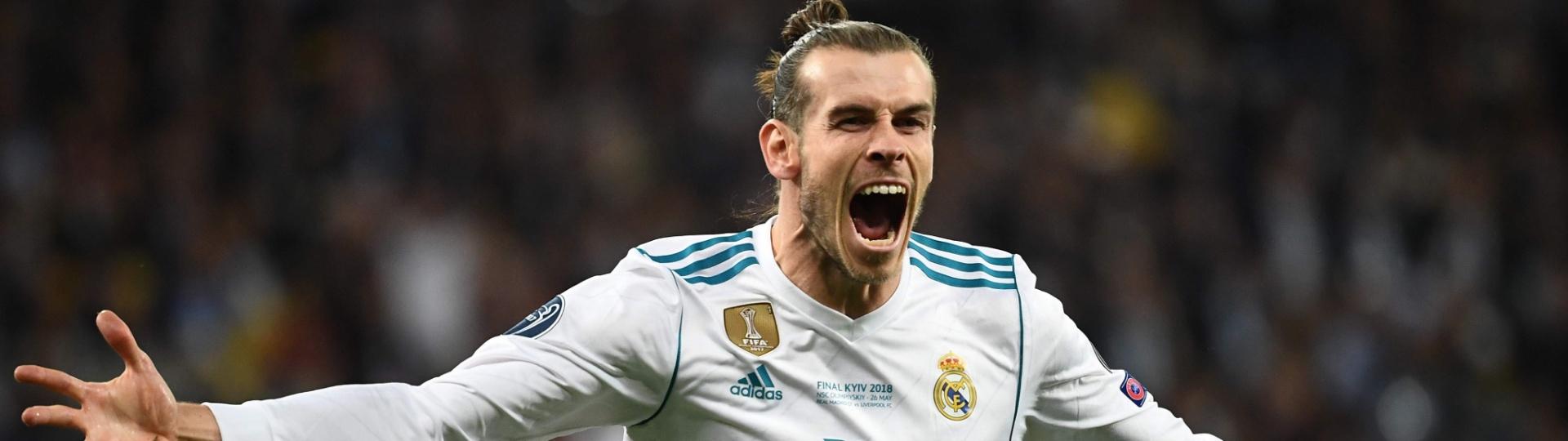 Bale comemora gol contra o Liverpool na Liga dos Campeões