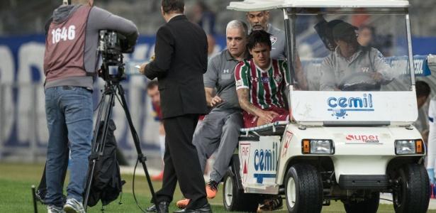 Atacante sentiu o joelho direito; clube fala em torção - Pedro Vale/AGIF