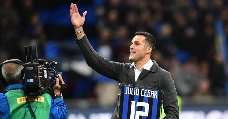 Inter de Milão faz homenagem ao ex-goleiro brasileiro Julio Cesar