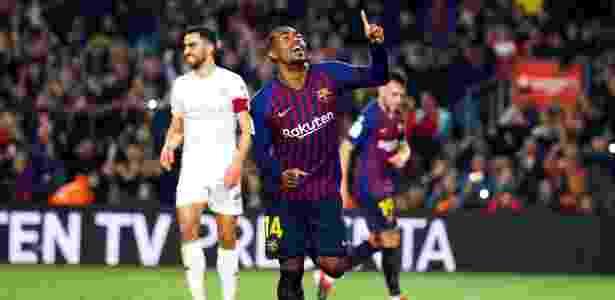 Desde que chegou ao Barcelona, Malcom atuou em apenas 11 partidas e marcou dois gols - Alejandro García/EFE