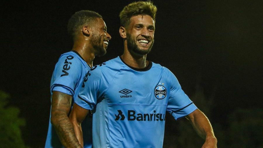Juninho Capixaba já marcou dois gols na temporada 2019 e tem se destacado - LUCAS UEBEL/GREMIO FBPA