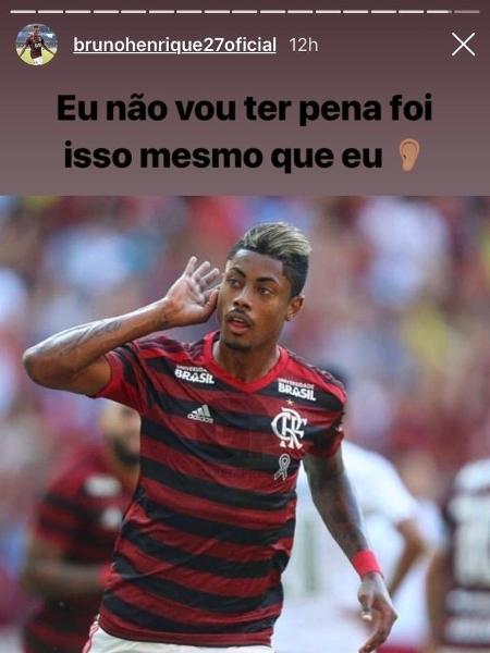 Bruno Henrique provoca o Vasco em postagem no Instagram após o título carioca do Flamengo - Reprodução / Instagram