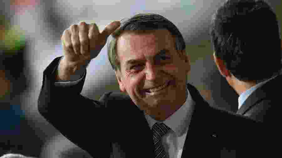 O presidente Jair Bolsonaro foi ao Mineirão para a partida entre Brasil e Argentina - Mauro PIMENTEL / AFP
