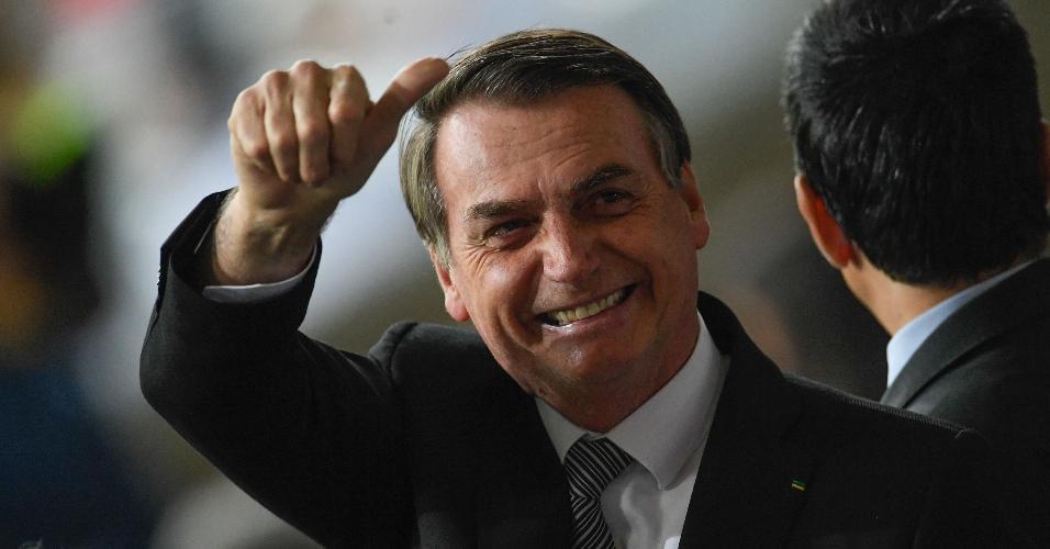 O presidente Jair Bolsonaro foi ao Mineirão para a partida entre Brasil e Argentina