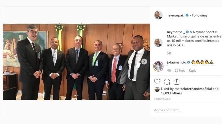 Neymar pai em encontro com Jair Bolsonaro