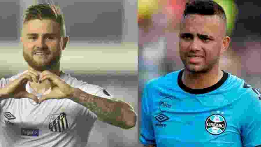 Eduardo Sasha e Luan se enfrentam novamente em Santos x Grêmio pelo Brasileiro - Ivan Storti/Santos & Lucas Uebel/Grêmio