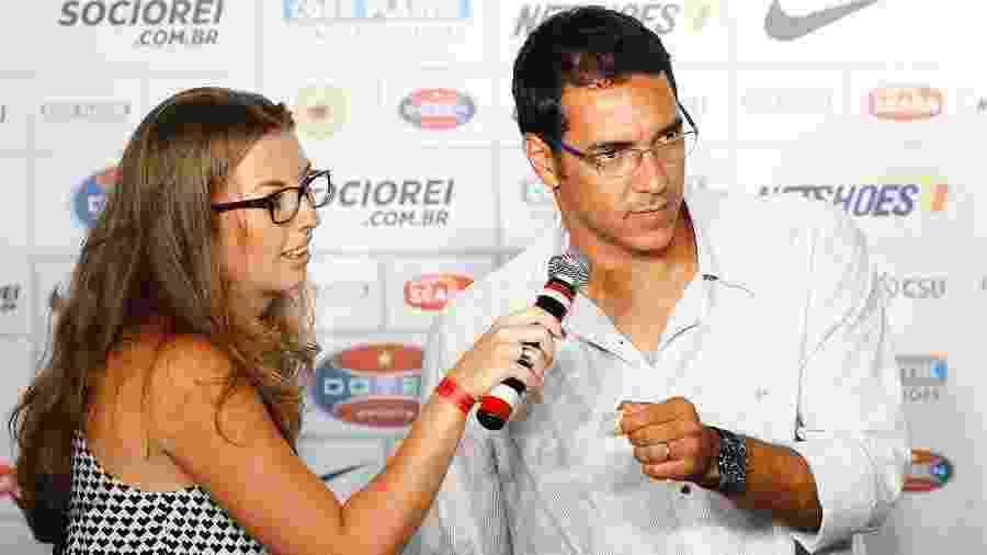 Alberto concede entrevista coletiva no Santos em 2014 - Ricardo Saibun/Divulgação Santos FC