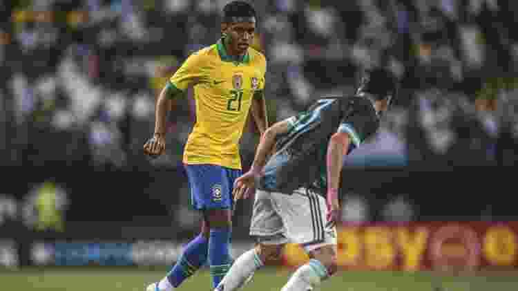 Rodrygo defendeu a seleção brasileira contra a Argentina - Pedro Martins/MowaPress