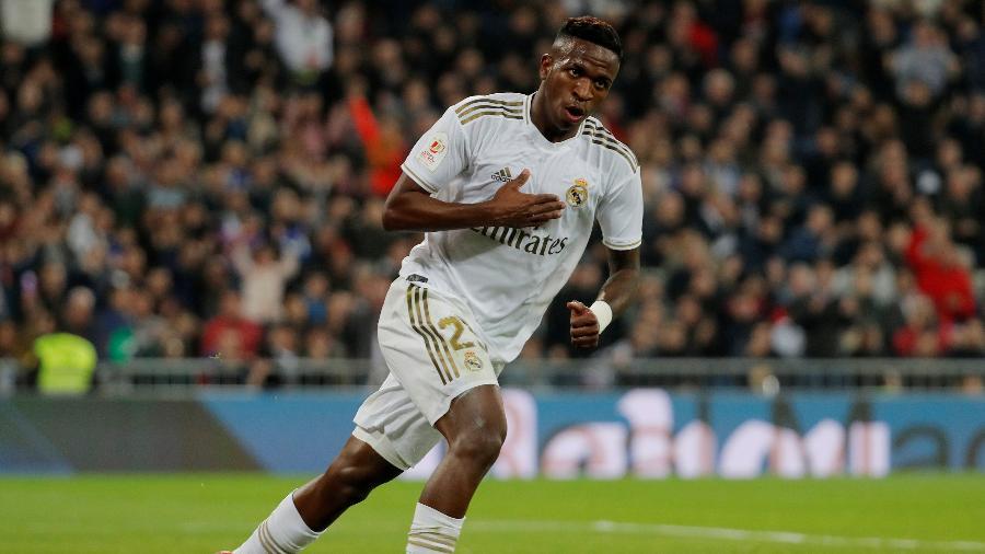 Vinícius Júnior em partida do Real Madrid contra a Real Sociedad pela Copa do Rei - Susana Vera/Reuters