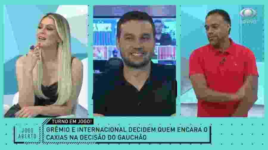 """João Batista Filho critica D""""Alessandro e Renata Fan se incomoda - Reprodução/Band"""