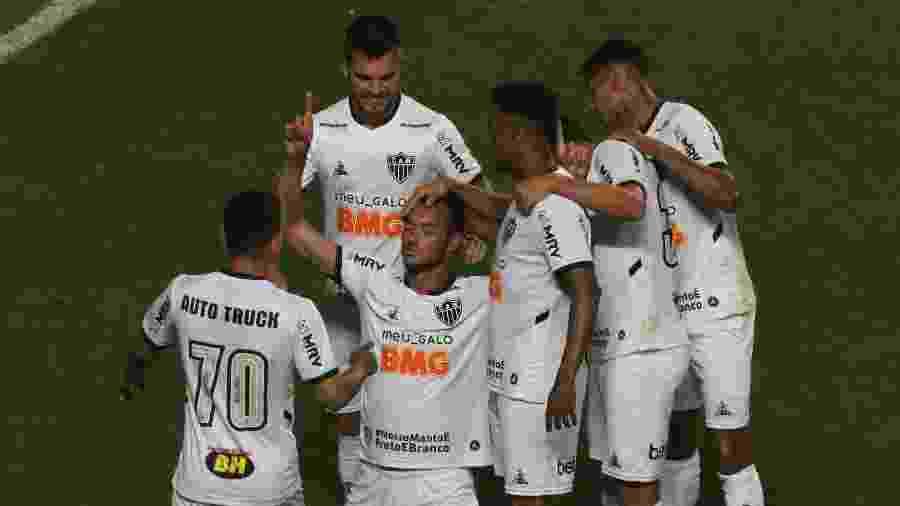 Réver comemora gol marcado pelo Atlético-MG contra o América-MG, em semifinal do Mineiro 2020 - Fernando Moreno/AGIF