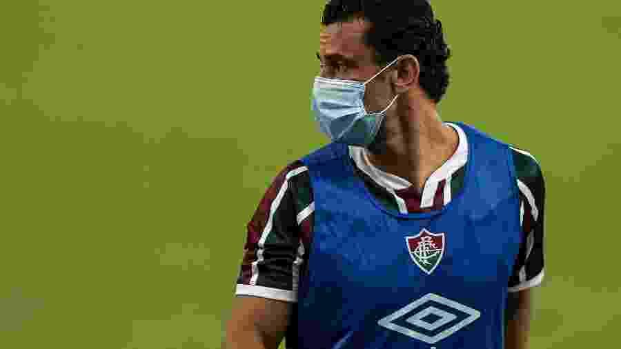 Atacante Fred foi poupado pelo Fluminense do duelo com o São Paulo após sua esposa testar positivo para covid-19 - Thiago Ribeiro/AGIF