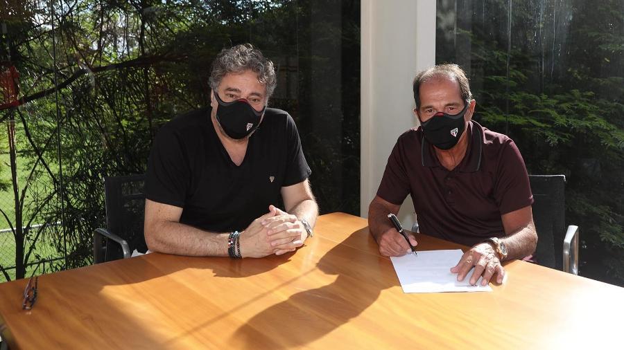 Muricy Ramalho se tornou membro do departamento de futebol do São Paulo durante a gestão de Julio Casares - Divulgação/São Paulo
