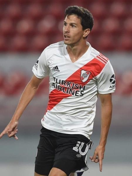 Nacho Fernández com a camisa do River Plate. Jogador defenderá o Atlético-MG - Reprodução