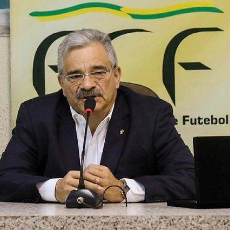 Mauro Carmélio durante entrevista coletiva - Pedro Chaves/Federação Cearense de Futebol