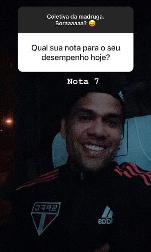 Daniel Alves avaliou sua atuação na estreia do SPFC na Libertadores