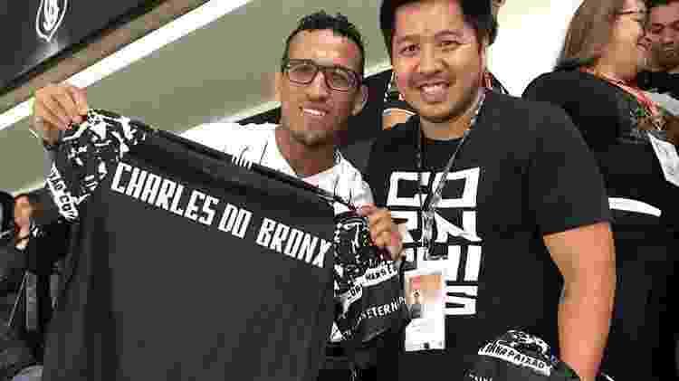 Charles do Bronx acompanha jogo na Neo Química Arena - Reprodução/Instagram - Reprodução/Instagram