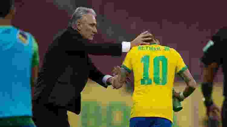 Tite e Neymar - Lucas Figueiredo/CBF - Lucas Figueiredo/CBF